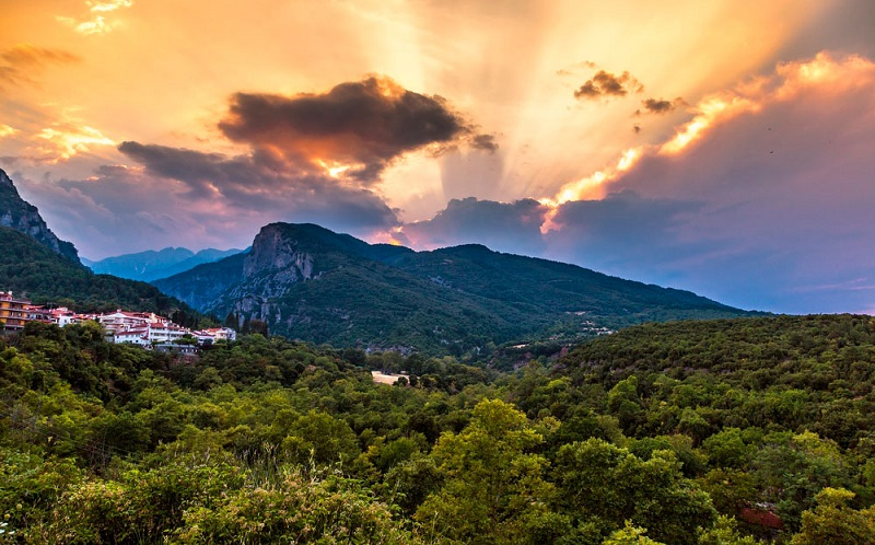 гора олимп Фессалия