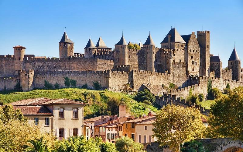 каркассон город во франции