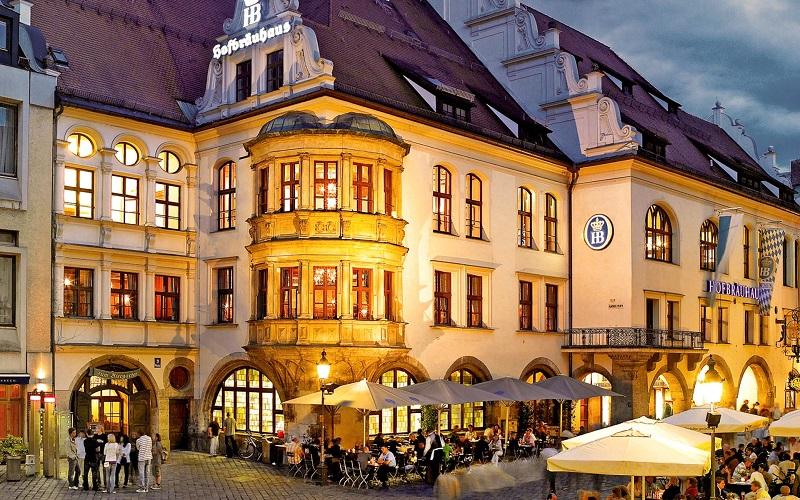 пивоварня хофбройхаус в мюнхене