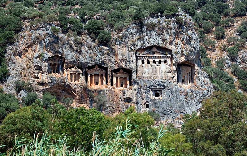 ликийские гробницы в дальяне