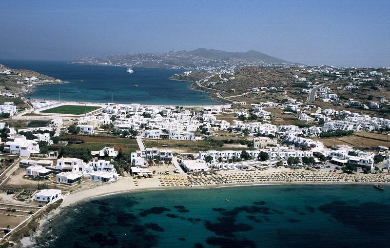 пляж орнос миконос