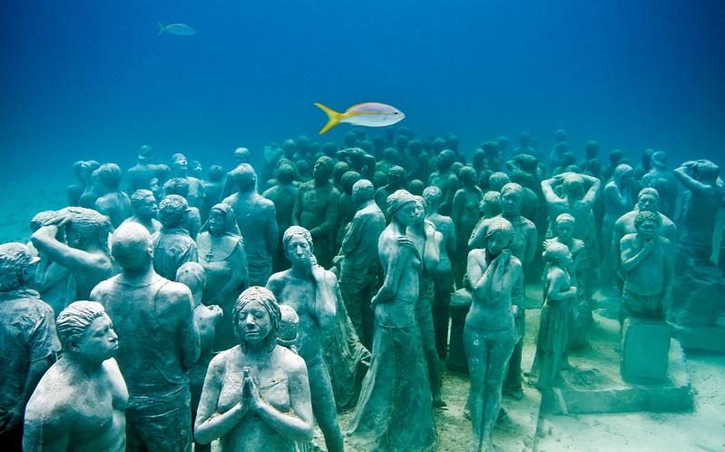 музей подводных скульптур в канкунемузей подводных скульптур в канкуне
