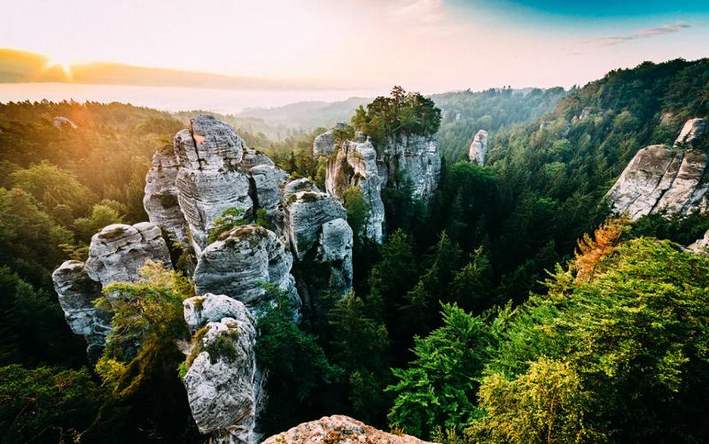 заповедник чешский рай в чехии