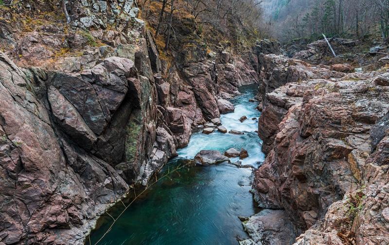 гранитный каньон реки белой адыгея