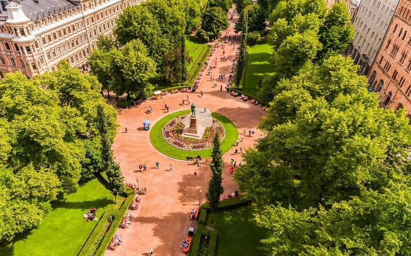 парк эспланады хельсинки